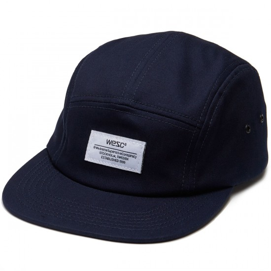 WeSC Solid 5 Panel Hat - Navy Blazer