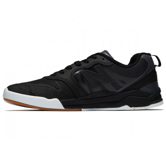 New Balance Numeric 868 Shoes - Black/Black/White - 8.0