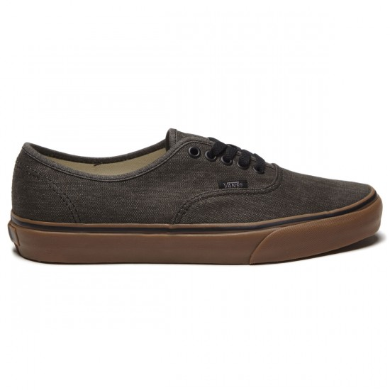 Vans Original Authentic Shoes - Washed Black/Gum - 8.0