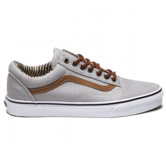 Vans Old Skool Shoes - Silver Sconce/Stripe Denim - 8.0