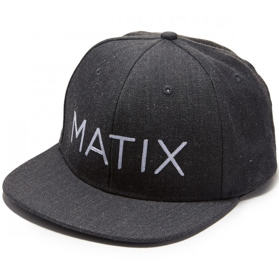 Matix Monoset S17 Hat - Heather Black