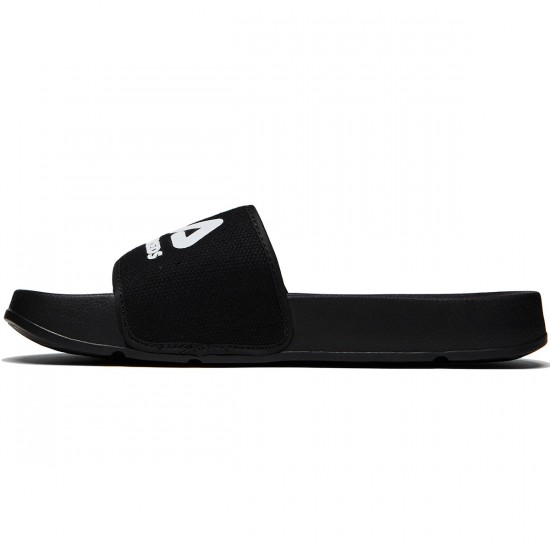 The Hundreds X FILA Drifter Slides - Black - 8.0