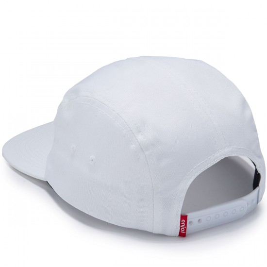 Enjoi Fairfax 5 Panel Hat - White