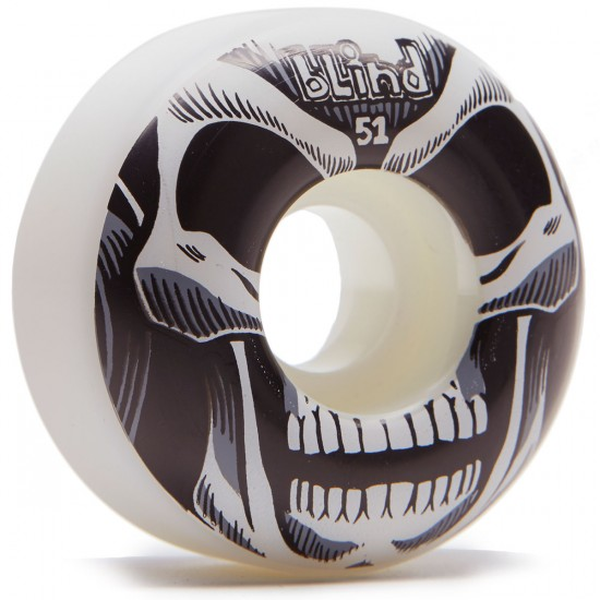 Blind Reaper Skateboard Wheels - White/Black - 51mm