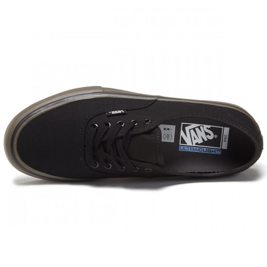 Vans Authentic Pro Shoes - Canvas Black/Gum - 8.0