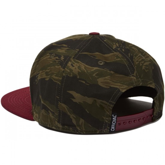 Official Workwear Hat - Camo/Burgundy