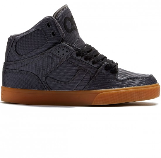 Osiris NYC 83 Vulc Shoes - Dark Grey/Gum - 8.0