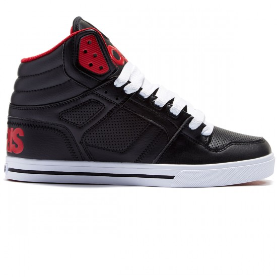 Osiris Clone Shoes - Black/Red/Red - 8.0