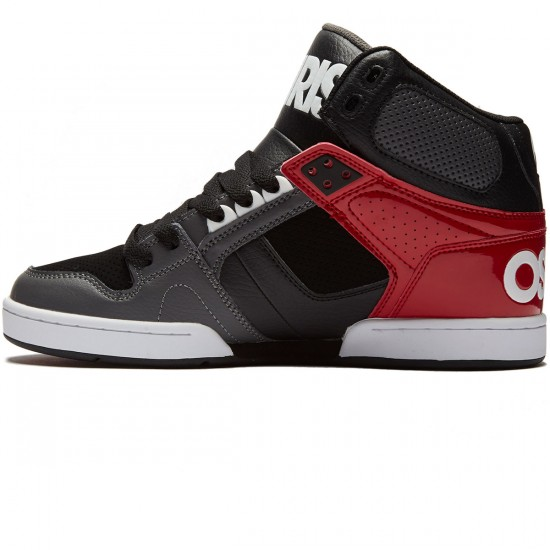 Osiris NYC 83 Shoes - Dark Grey/Red - 8.0