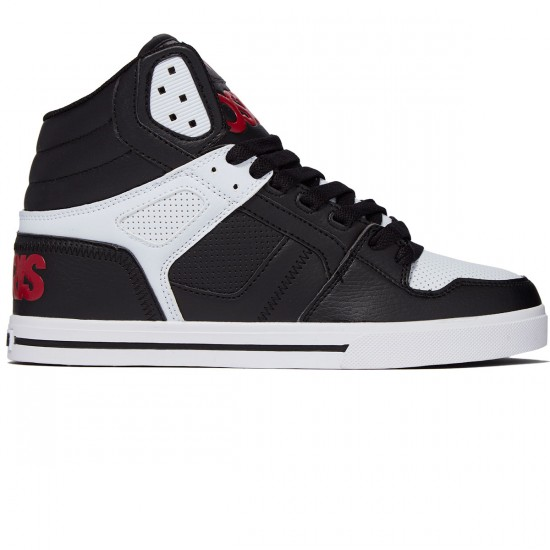 Osiris Clone Shoes - Black/Red/White - 8.0