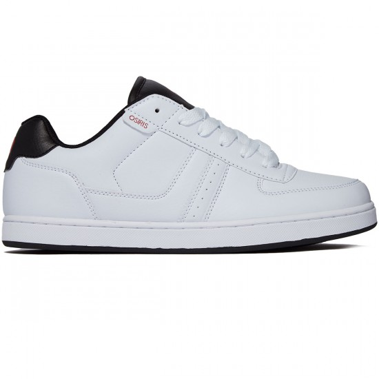 Osiris Relic Shoes - White/Black/Red - 9.0