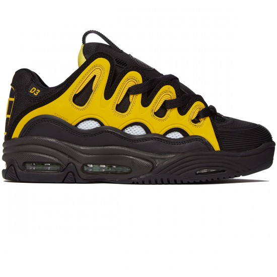 Osiris D3 2001 Shoes - Black/White/Yellow - 8.0