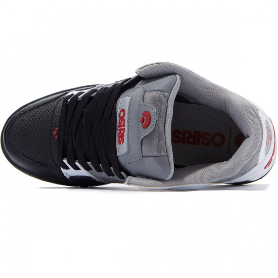Osiris Peril Shoes - White/Grey/Red - 8.0