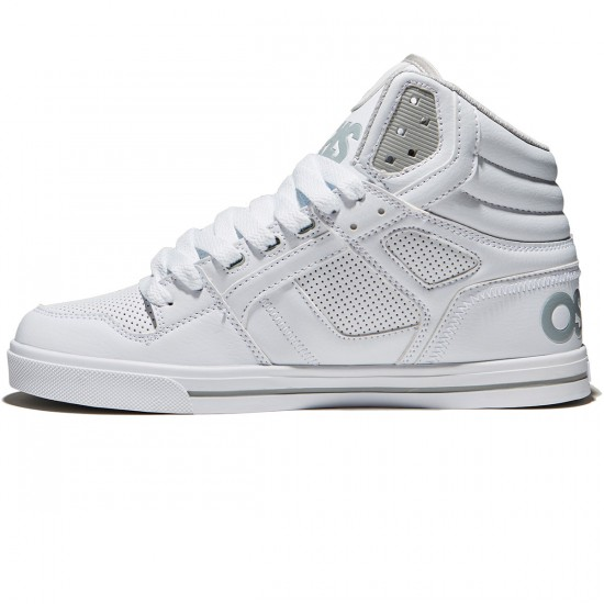Osiris Clone Shoes - White/Light Grey - 8.0