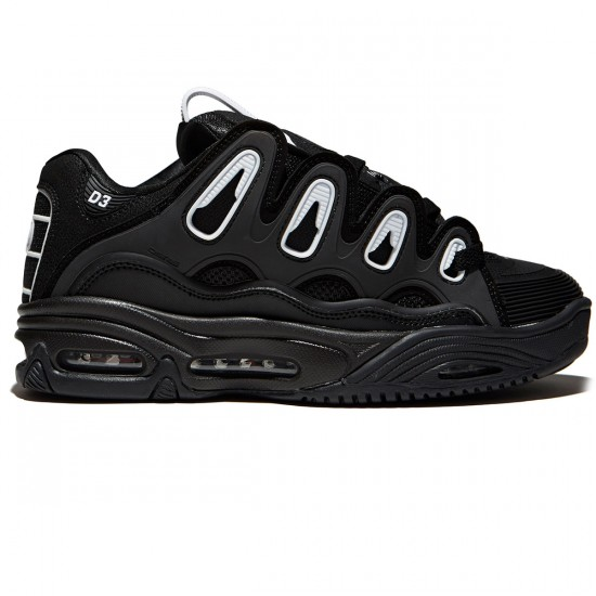 Osiris D3 2001 Shoes - Black/White/Black - 8.0