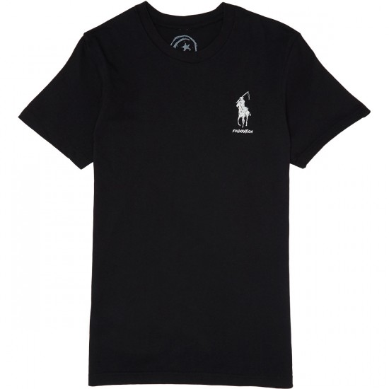 Foundation Polo Reaper T-Shirt - Black