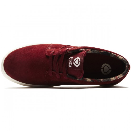 C1rca Hesh 2.0 Shoes - Brick Red/Plaid - 8.0