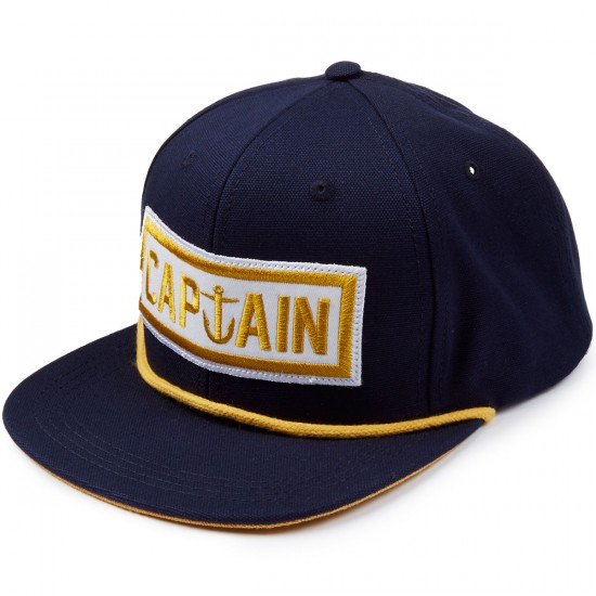 Captain Fin Naval Captain 6 Panel Hat - Navy/Gold