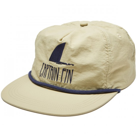 Captain Fin Shark Fin 5 Panel Hat - Khaki