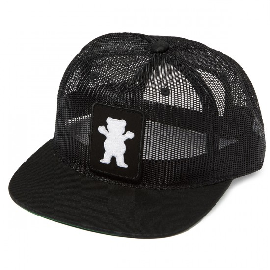Grizzly Grip Sunny Roads Patch Snapback Hat - Black