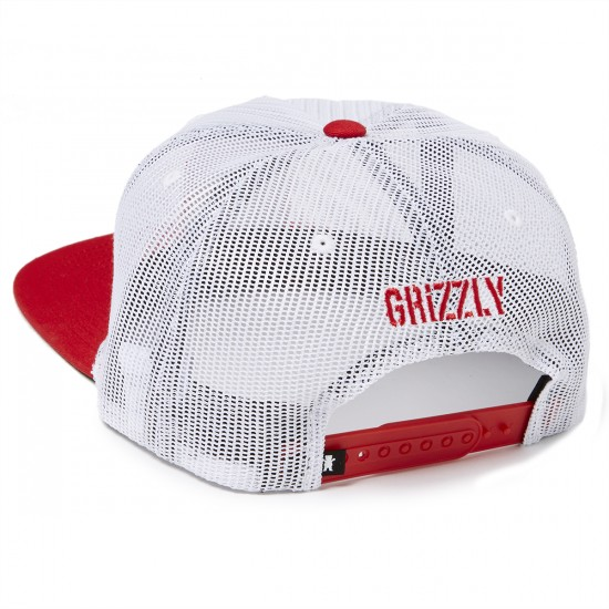 Grizzly Grip Sunny Roads Patch Snapback Hat - White