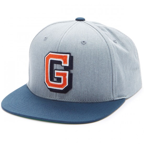 Grizzly Coliseum G Snapback Hat - Heather Grey