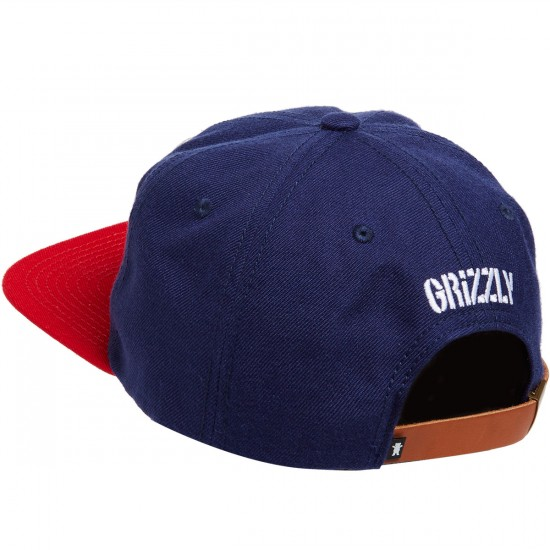 Grizzly KeyStone Strapback Hat - Blue