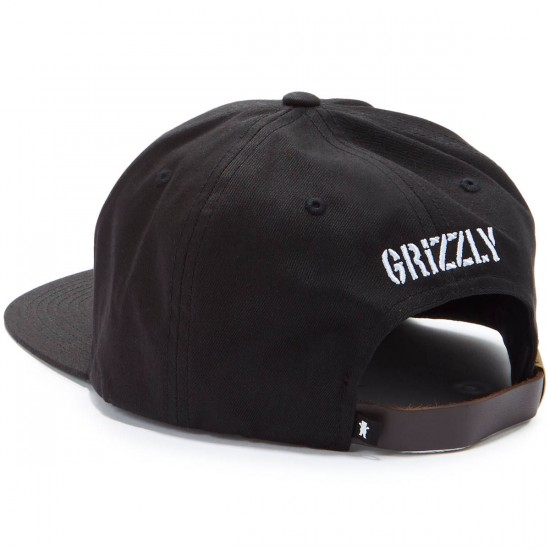 Grizzly Felt OG Bear Strapback Hat - Black