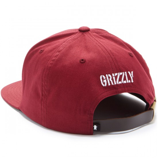 Grizzly Felt OG Bear Strapback Hat - Burgundy