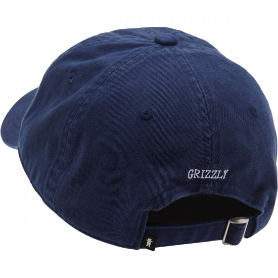 Grizzly OG Dad Bear Logo Hat - Navy