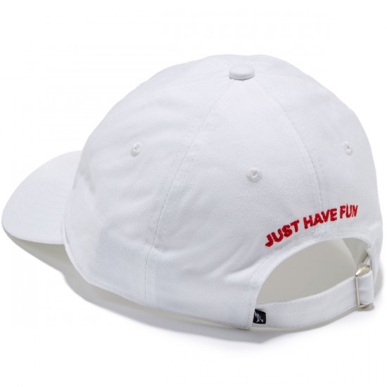 Just Have Fun Classic Skate Dad Hat - White/Red