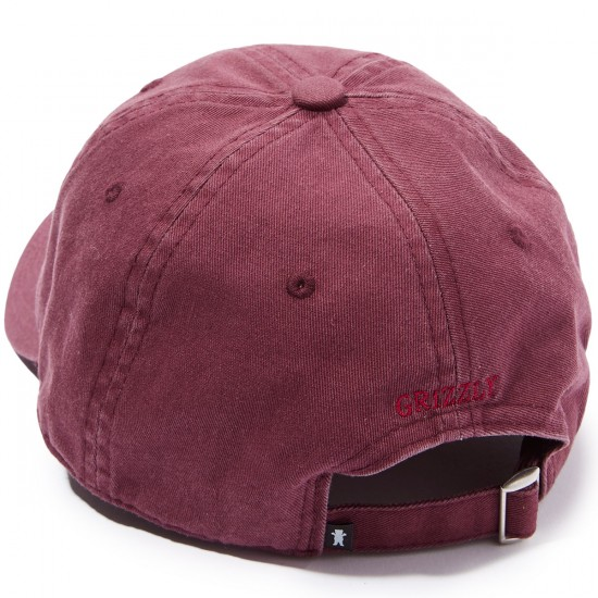Grizzly Mini Bear Strapback 6 Panel Hat - Berry