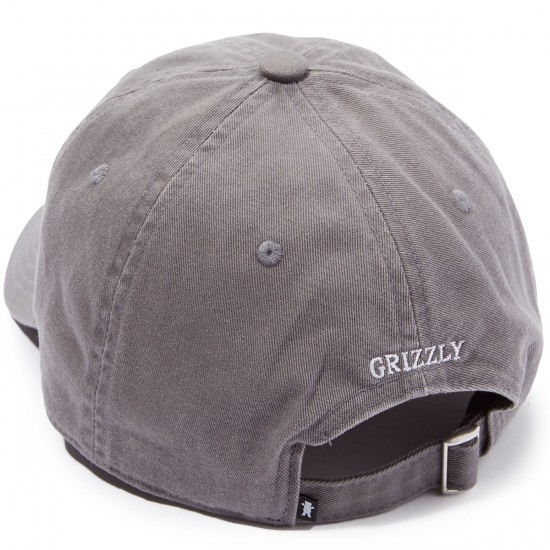 Grizzly Mini Bear Strapback 6 Panel Hat - Grey