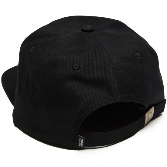 Grizzly Field and Stream Strapback Hat - Black