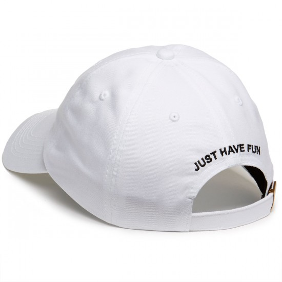 Just Have Fun Classic Skate Dad Hat - White