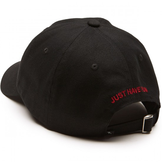 Just Have Fun Classic Skate Dad Hat - Black/Red