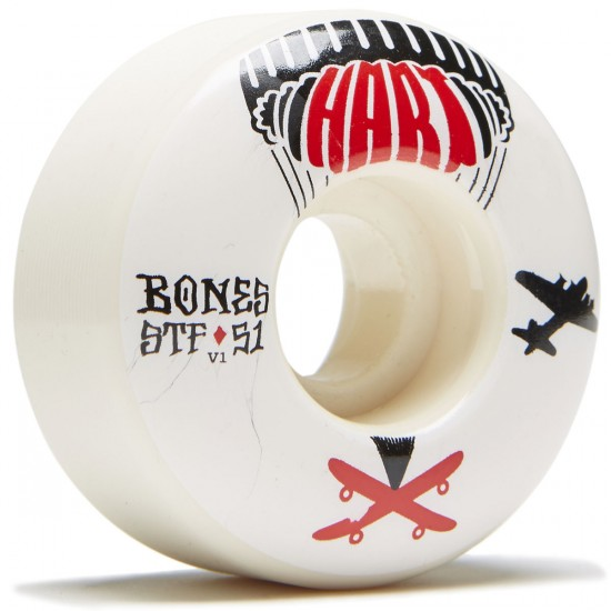 Bones STF Hart Drop Boards V1 Skateboard Wheels - 51mm