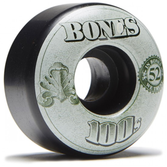 Bones 100's #11 Skateboard Wheels - Black - 52mm