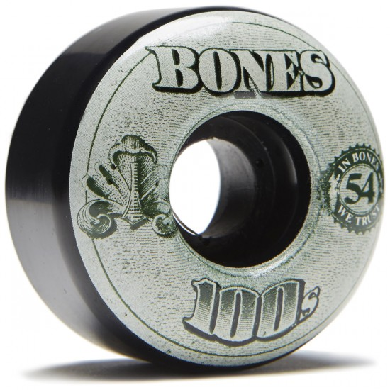 Bones 100's #11 Skateboard Wheels - Black - 54mm