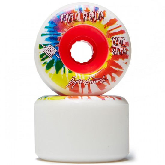 Powell Peralta Byron Essert Pro Longboard Wheels - White - 72mm 75a