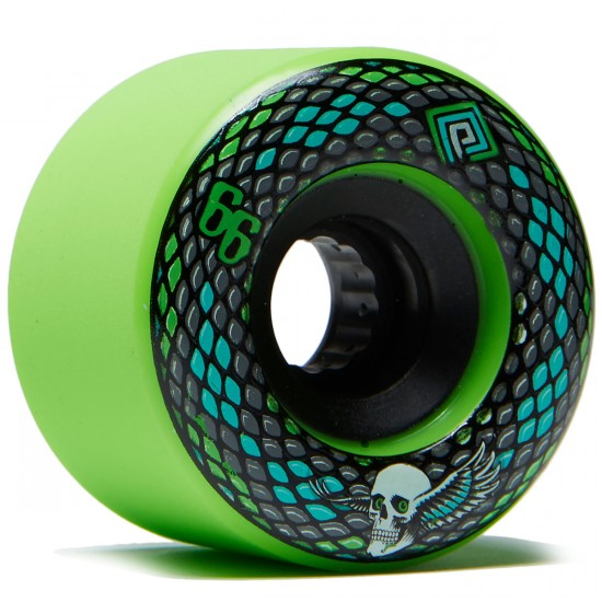 Powell Peralta Snakes Longboard Wheels - Green - 66mm 75a
