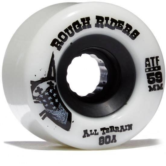 Bones ATF Rough Riders Skateboard Wheels - 59mm White