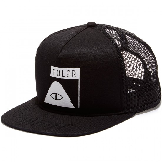 Poler Summit Mesh Trucker Hat - Black