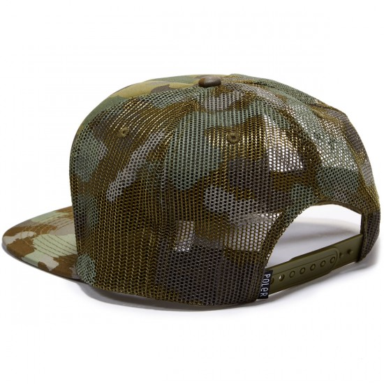 Poler Summit Mesh Trucker Hat - Furry Green Camo