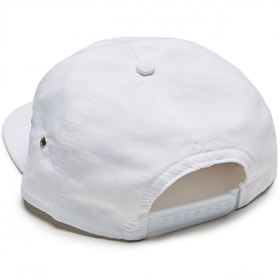 Casual Industrees Lambo Text Snapback Hat - White