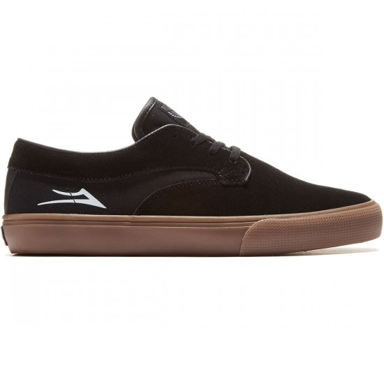 Lakai Riley Hawk Shoes - Black/Gum - 8.0