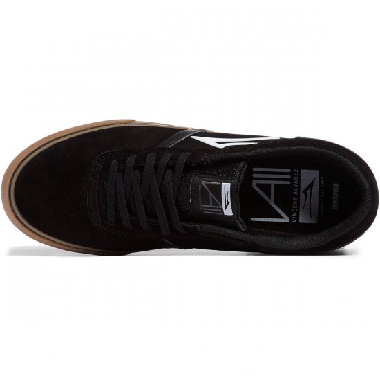 Lakai Vincent 2 Shoes - Black/Gum Suede - 8.0