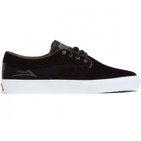 Lakai Riley Hawk Shoes - Black Suede/White - 8.0