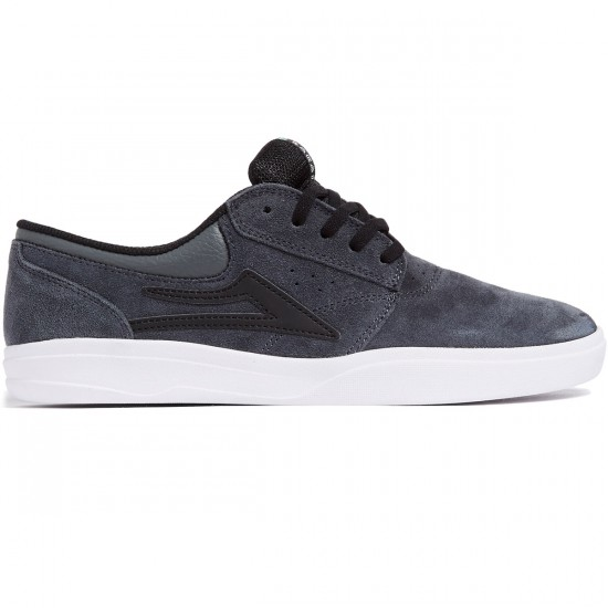 Lakai Griffin XLK Shoes - Grey/Black Suede - 8.0
