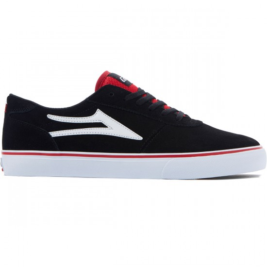 Lakai Manchester Shoes - Black Suede/Red - 8.0